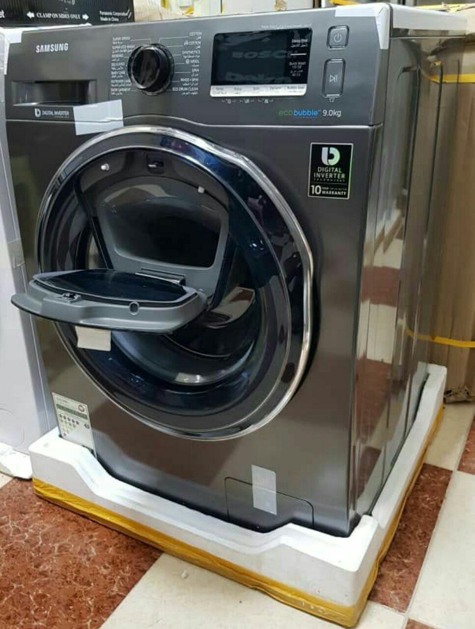 لباسشویی سامسونگ ادواش ۹کیلو سیلور