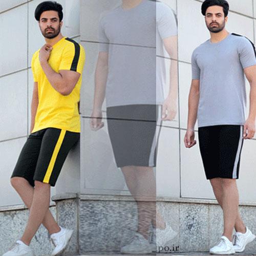 خرید تیشرت شلوارک مردانه